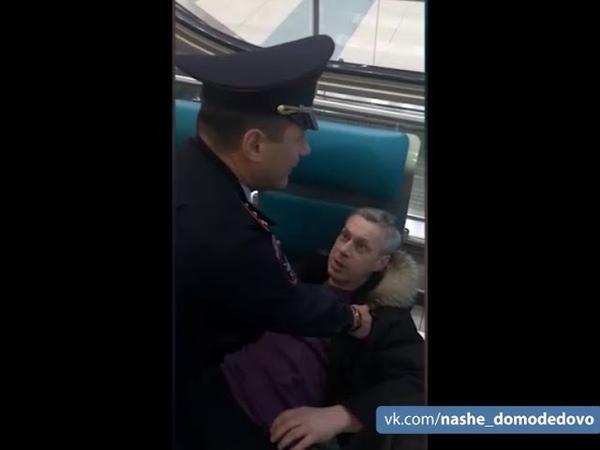 Буйный пассажир в Домодедово