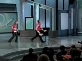 Vova and Olga juggling on Television