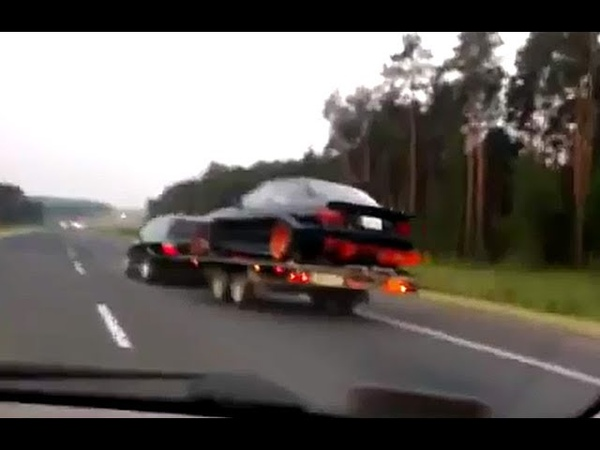 O kurwa! O KURWA 2 x BMW trailer fail. (COPY)