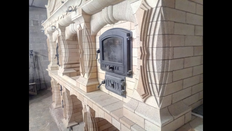 Комплекс печей Булгаковский 7 0 обкладка банной мангал с отоплением