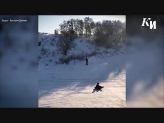 В Курске засыпают песком дикие горки в Крутом логу