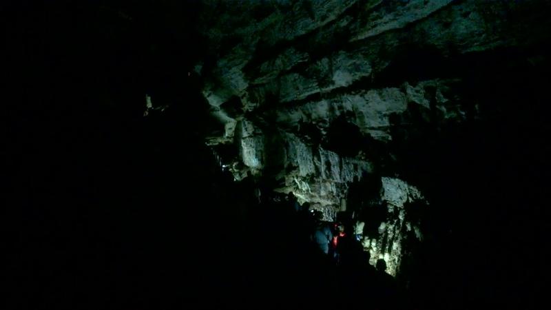 в Новоафонской пещере Абхазия сентябрь 2018