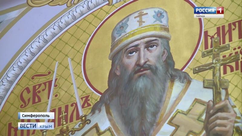 ВестиКрым.рф В соборе Александра Невского завершается роспись стен верхнего храма