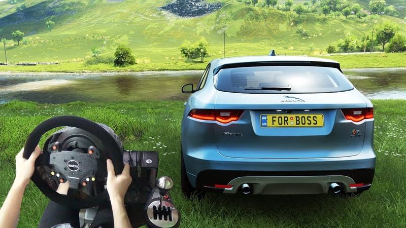 Forza Horizon 4 - Jaguar F-Pace S 2017 (w Steering Wheel) Gameplay