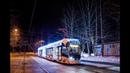 Поездка на Новогоднем трамвае 71 931М Витязь М №31225 №35 Нагатино Новоконная площадь