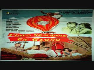 Julio Verne.-Cinco semanas en globo.-(1962).Español