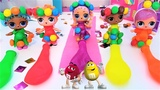 КУКЛЫ ЛОЛ КОНФЕТНАЯ ВЕЧЕРИНКАLOL DOLLS SURPRISE &amp PARTY M&ampMs clothing balloon for dolls.