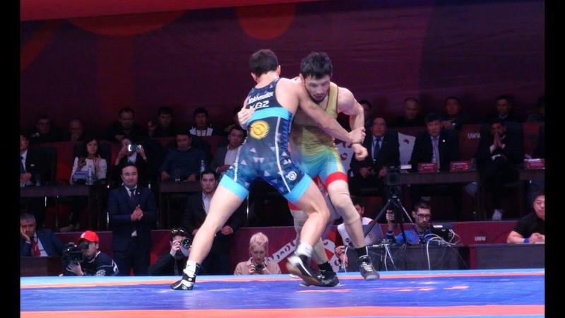 Греко римская борьба Акжол Махмудов Демеу Жадраев Чемпионат Азии 2018 Финал 72 кг