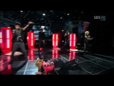 101031 [HD] Inkigayo Kikwang, Taemin, Minzy, Wooyoung, Chansung - Thriller