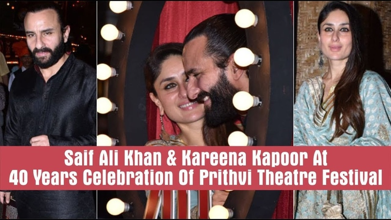 Saif Ali Khan and Kareena Kapoor Make A Classy Appearance At The Prithvi Film Festival 2018