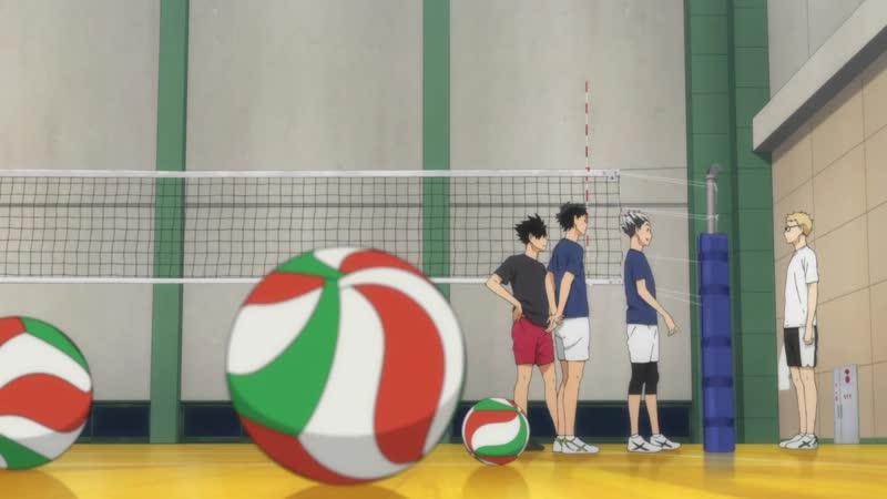 Бокуто, Цукишима, Куроо [ haikyuu | волейбол ] момент