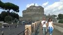 Walk around Rome Italy Castel Sant'Angelo-Piazza Navona-Pantheon-Piazza di Spagna-Piazza del Popolo