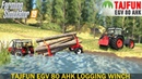 Farming Simulator 19 TAJFUN EGV 80 AHK Logging Winch With Pulls a Stuck Tractor out of the Lake