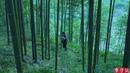 Beautiful girl made bamboo furniture