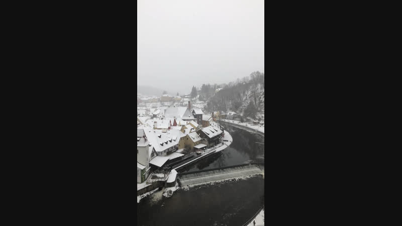 Вид на Чешский Крумлов с Замка