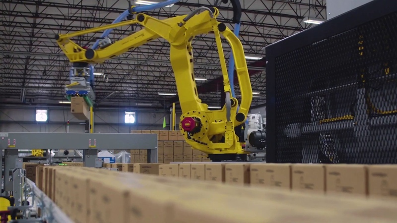 Robotic System Erects, Packs, Seals Palletizes Scent Booster Bottles – Pearson Packaging Systems