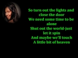 Natalie Cole - A little bit of heaven lyrics