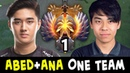 TOP-1 RANK TI8 WINNER in one team — when ABED meets ANA
