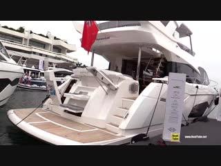 2019 Sunseeker Manhattan 66 Yacht - Deck and Interior Walkaround - 2018 Cannes Yachting Festival