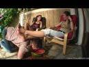 Mistress Lara Maria Накормили раба арбузом с ног