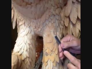 Орел - прекрасная работа мастера резьбы по дереву - vk.com/my.dacha