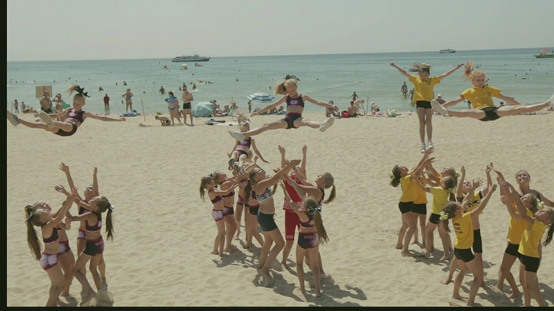 Cheerleading - Daisy и Cool на сборах в Анапе