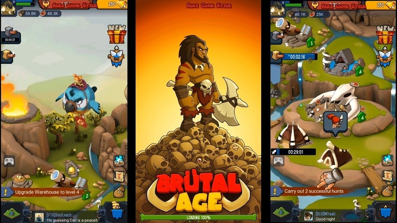 Brutal Age Horde Invasion (EN) - First look. Prehistoric strategy (Android Strategy)