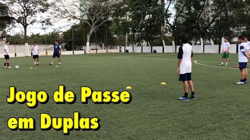 Jogo de passes em duplas - Treino de Futebol