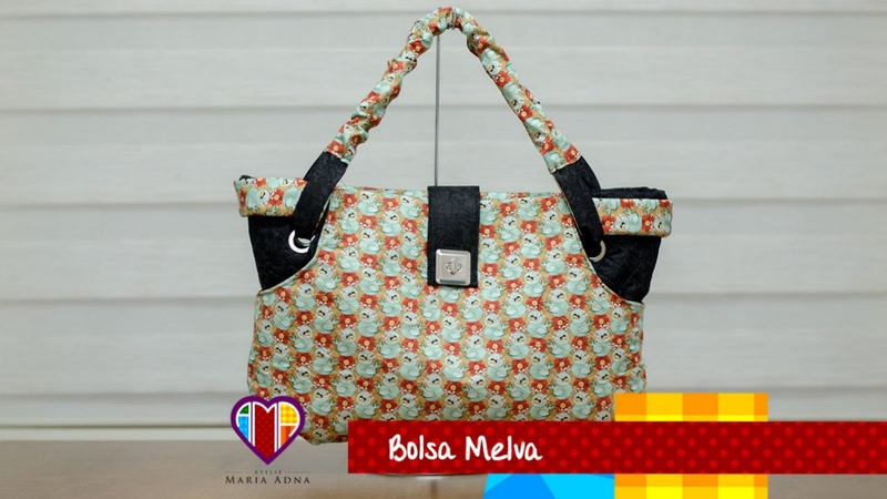 Vídeo de bolsa de tecido Melva. Cool and exquisite fabric bag tutorial