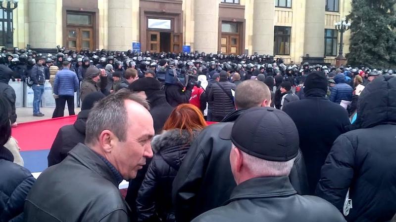 16 марта 2014. Харьков. Пророссийский митинг в Харькове