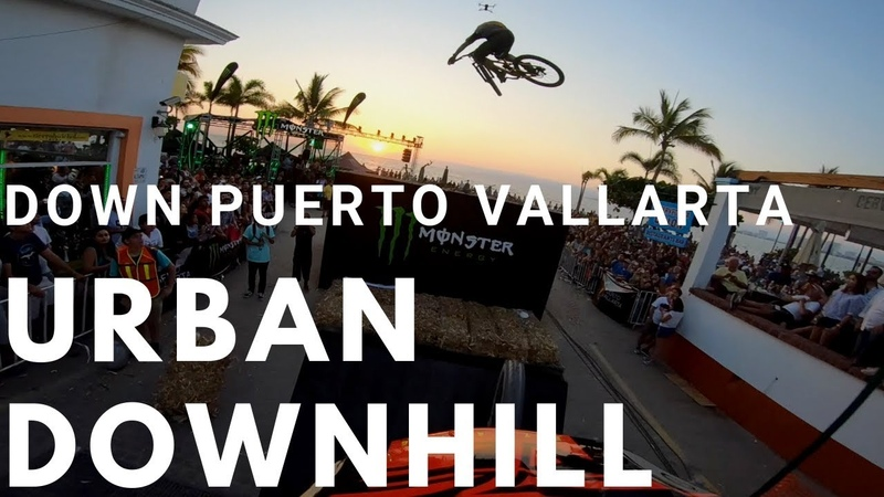 Epic Sunset Urban Downhill Follow Cam in Puerto Vallarta - Tomas Slavik's crash