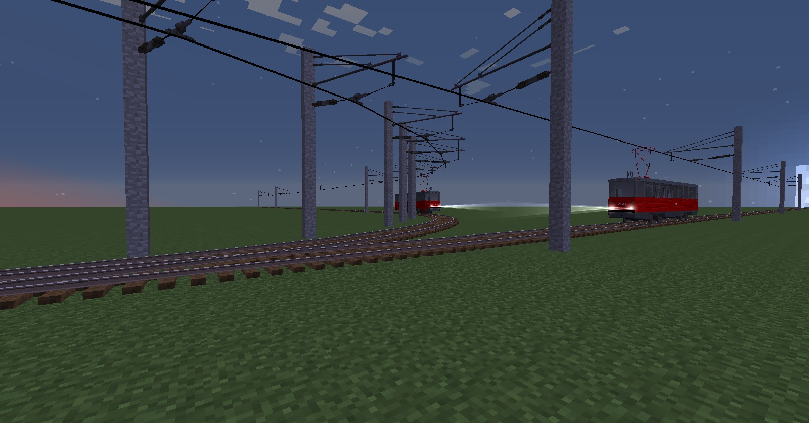 Trollebas Pack for RealTrainMod - Russian contact wire