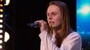 Britain's Got Talent 2015 S09E04 Aaron Sings a Death Rock Version of Frozen's Let It Go