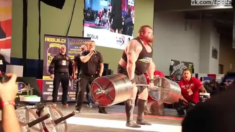 Мировой рекорд - британец Эдди Холл поднял штангу весом 465 кг _ Eddie Hall lift