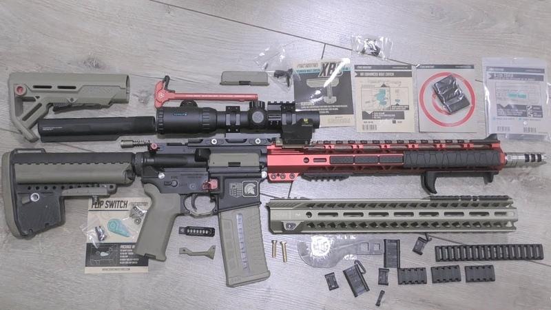 ОБВЕС STRIKE INDUSTRIES для AR-15   5 ПОСЫЛОК - РАСПАКОВКА   ЗАКРЫВАЮ КАНАЛ