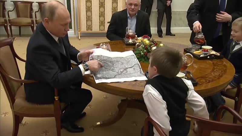 Небо Петербурга в голубом вертолете Путин исполнил мечту тяжелобольного мальчика Артема Пальянова