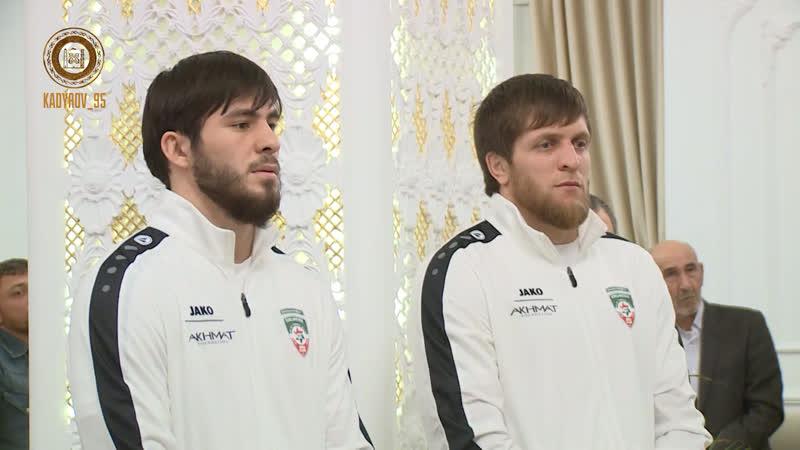 Чествование чеченских дзюдоистов