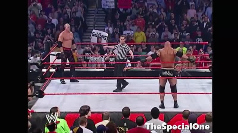 Голдберг против Кейна WWE Raw 2004 02 2