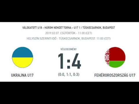 HNT - UKR U17 - BLR U17 1-4 20190207 highlights