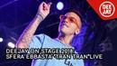 Sfera Ebbasta sul palco di Deejay On Stage con Tran Tran
