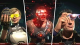 Mortal Kombat 11 - All Characters Gear So Far (Johnny Cage, Cassie Cage, Kano)
