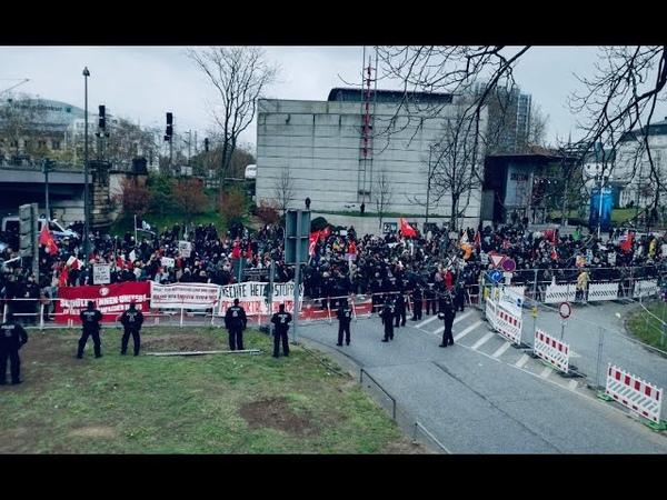 LIVE AUS DER ANTIFAHÖLLE HAMBURG (14.04.19) Michel wach endlich auf Demo mit Michael Stürzenberger