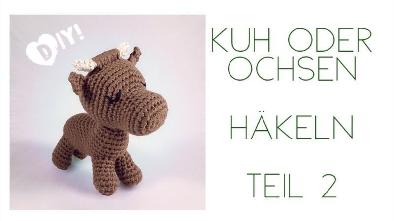 DIY: Kuh oder Ochsen-Amigurumi Tei 2 - Ohren, Hörner, Gesicht