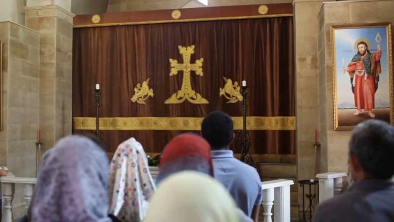 Служба в армянской церкви Нижнего Новгорода