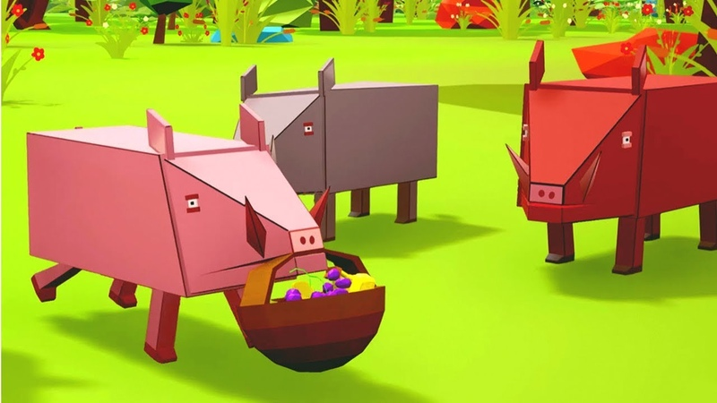 The Greedy Pig English Moral Stories for Kids 3D Animated Bedtime Stories Stories of the Forest