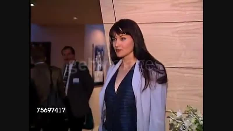 Lucy Lawless at NATPE on January 15, 1997.