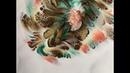Beautiful Reverse Dip with Ziploc plastic fluid acrylic pour painting