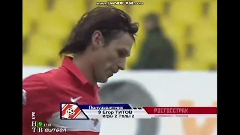 2007 Спартак Луч Энергия Титов головой замыкает подачу Калиниченко