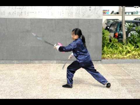 冼灝英 Thomas敎的7歲小妹妹 大聖劈掛門 - 林映茜已經九歲 八卦雙刀