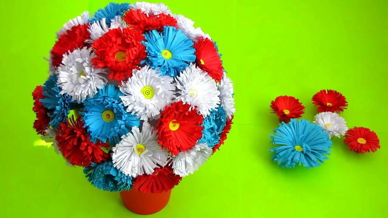 Best out of paper crafts. How to make paper flower bouquet. Very Easy To Make. DIY flowers making.